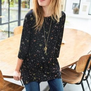 BODEN Katrina Jersey Knit Dot Cluster Top